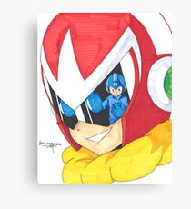Proto Man and Mega Man Canvas Print