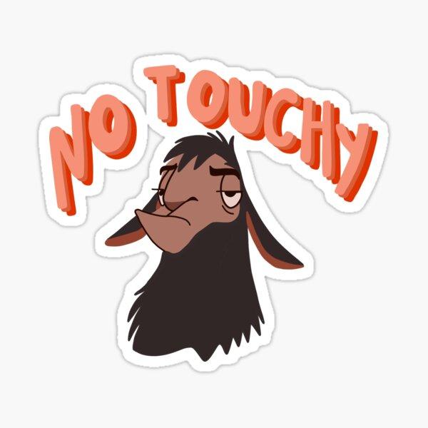 no touchy Sticker