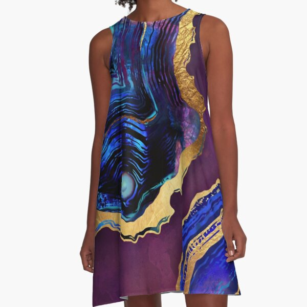 Agate Abstract A-Line Dress