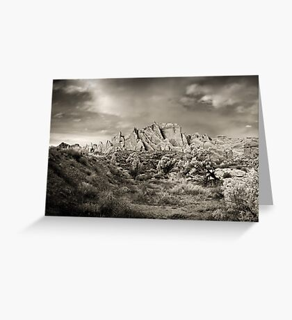 Arches Greyscale Garden Greeting Card