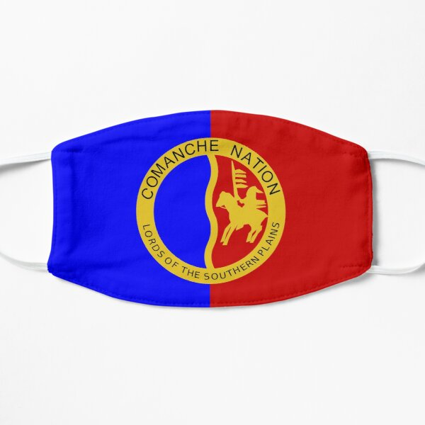face mask with the flag of Comanche Nation Oklahoma Flat Mask