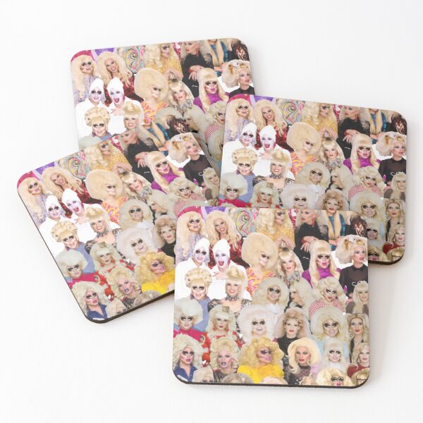 unhhhh trixie katya collage drag Coasters (Set of 4)