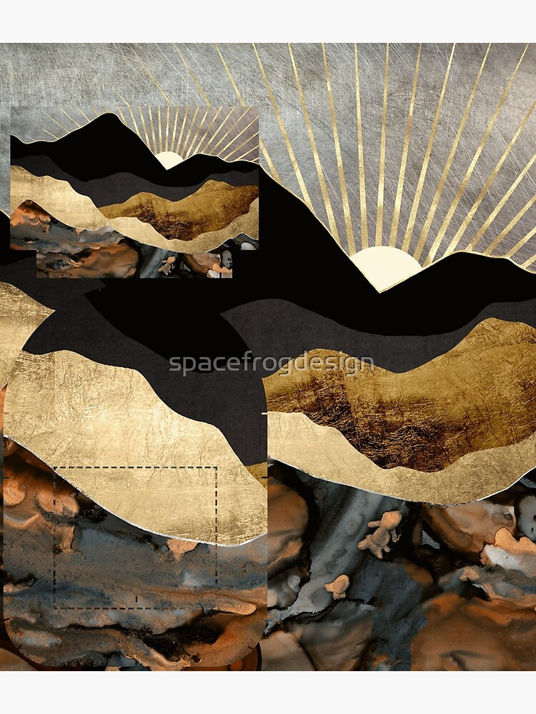 Copper and Gold Mountains by spacefrogdesign