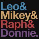 Leo&Mikey&Raph&Donnie. by Troy Sizer