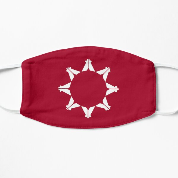 face mask with the pine ridge flag Oglala Sioux tribe Flat Mask