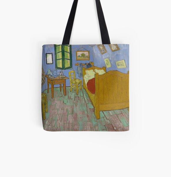 Vincent van Gogh: The Bedroom (Chicago Institute) All Over Print Tote Bag