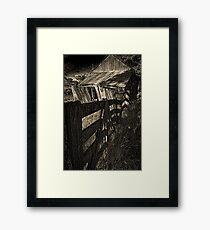 Old shed Framed Print