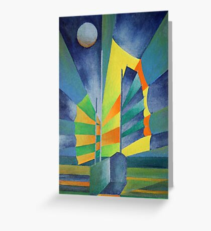 Junk By The Light Of The Silvery Moon Greeting Card