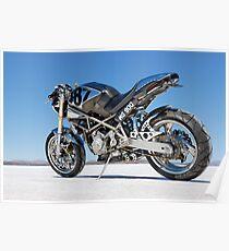 Ducati Monster on the salt 1 Poster