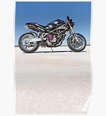 Ducati Monster on the salt 2 Poster