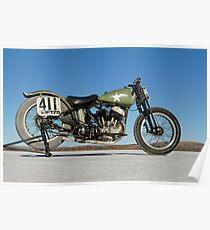 Harley-Davidson WLA on the salt Poster