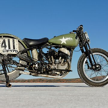 Harley-Davidson WLA on the salt by FrankKletschkus