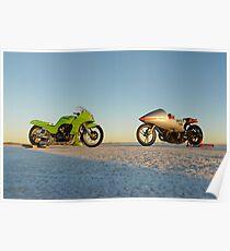 Kawasaki Z1000 and Suzuki GT 750 2 Poster