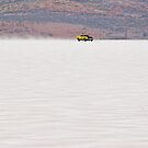 1973 XA Ford Coupe on the salt at full throttle by Frank Kletschkus