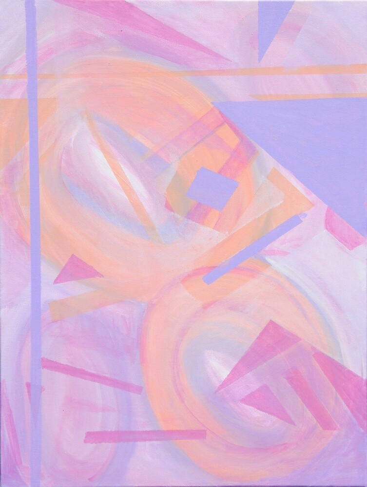 Abstract Pastel by Jennifer Lothrigel