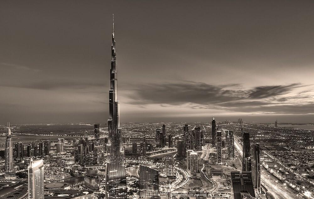 Downtown Dubai - Sepia by DubaiPictures