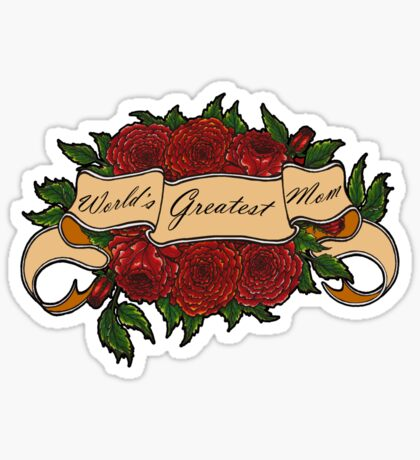 Mothers Day Roses Sticker