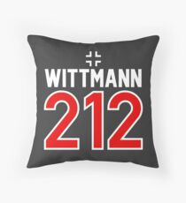Panzer Aces - Michael Wittmann Throw Pillow