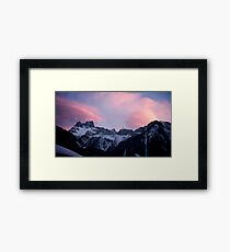 Sunset in the Mountains Framed Print