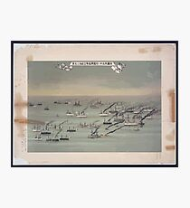 A flotilla of steamships sailing under the flags of several nations 001 Photographic Print