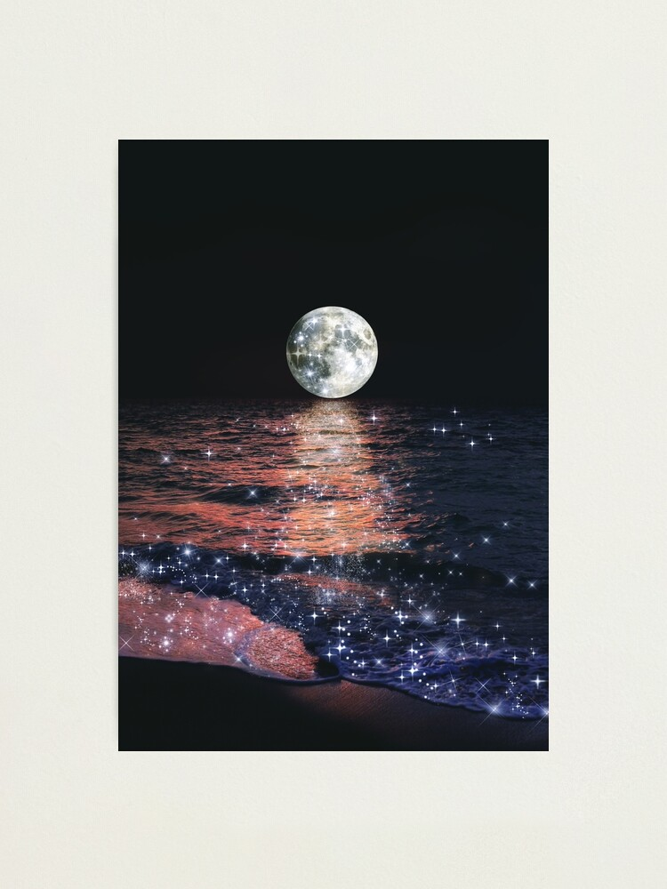 Alternate view of Floating in the moon's evening glow Photographic Print