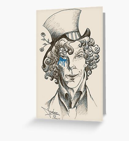 Mad Hatter (blue) Greeting Card