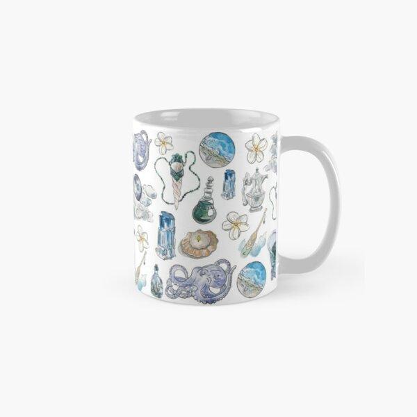 Sea Witch Pattern - Wrap Around with White Background Classic Mug