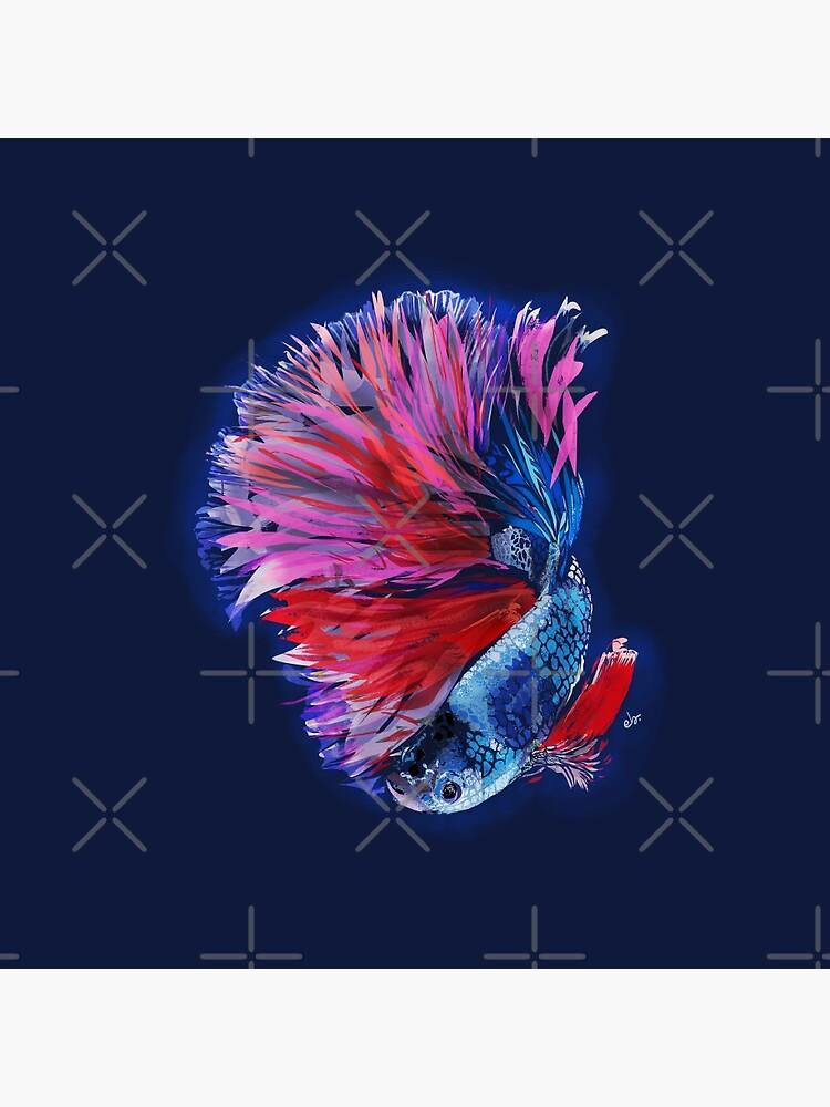 Magical beta fish by ebozzastudio