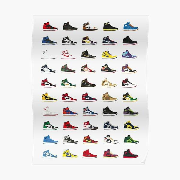 Baskets Modèle Poster
