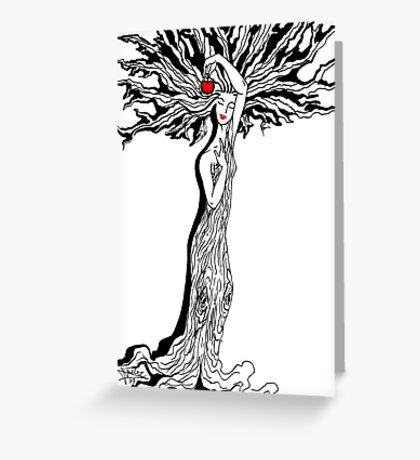 Ladytree Greeting Card