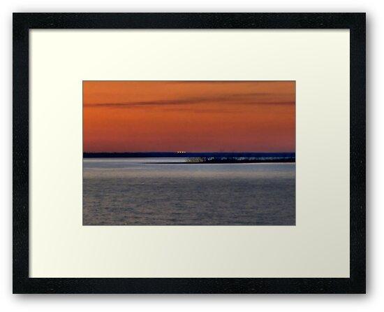 Sunset Over Lake Texoma by aprilann