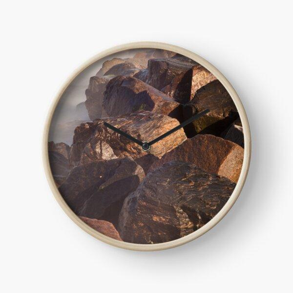 Ramsgate Harbour Rocks (Portrait Format) Clock