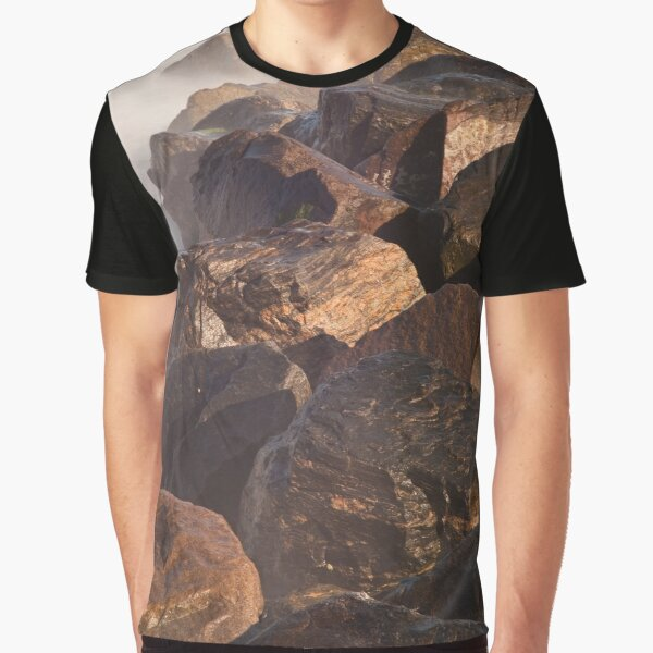 Ramsgate Harbour Rocks (Portrait Format) Graphic T-Shirt