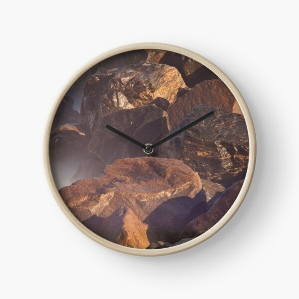 Ramsgate Harbour Rocks (Landscape Format) Clock