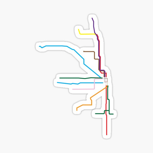 Chicago Transit Map Sticker