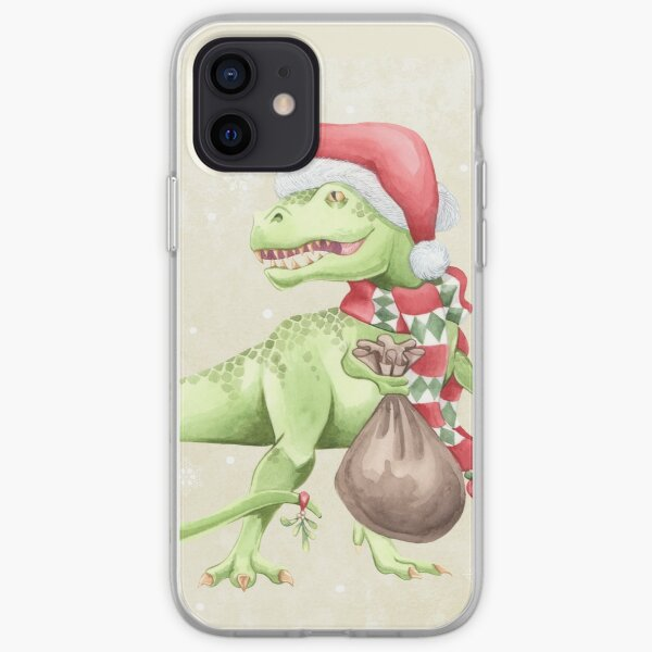 Christmas Dinosaur T-Rex iPhone Soft Case