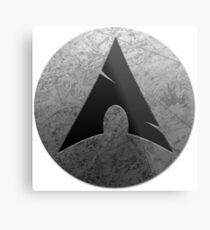 Arch Linux Metal Print