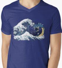 The Great Wave off Mt. Moon Men's V-Neck T-Shirt