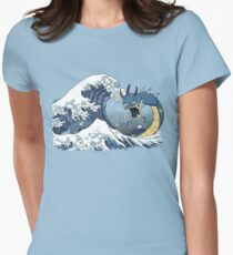 The Great Wave off Mt. Moon Womens Fitted T-Shirt