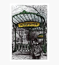 Montmartre 4 in colour Photographic Print