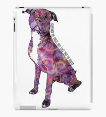 Pit Bulls May Lick You To Death iPad Case/Skin
