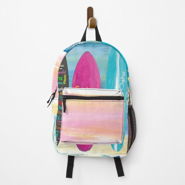 Surfboard Philosophy  - Enjoy Life, Travel and Surf - Surfboard Wall Backpack