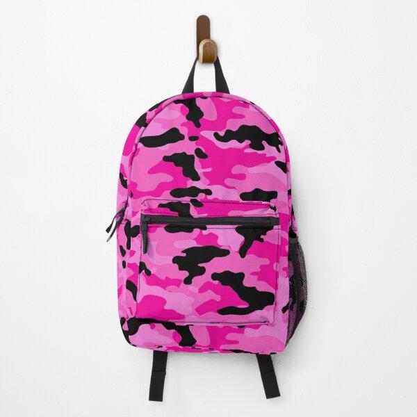 Woodland Camouflage Pink Backpack