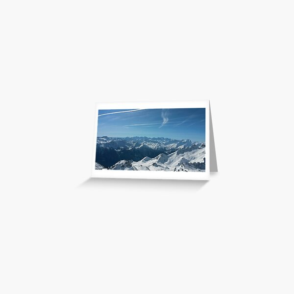 Snowy Mountain Tops Greeting Card