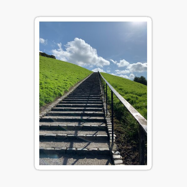 Derry Ireland stairs photograph Sticker
