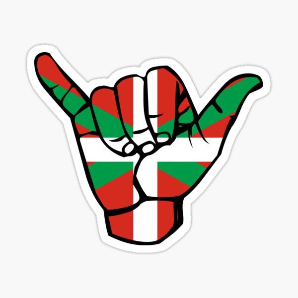 Corazón vasco, Euskadi, Euskal Herria, bandera vasca | bandera de shaka Pegatina