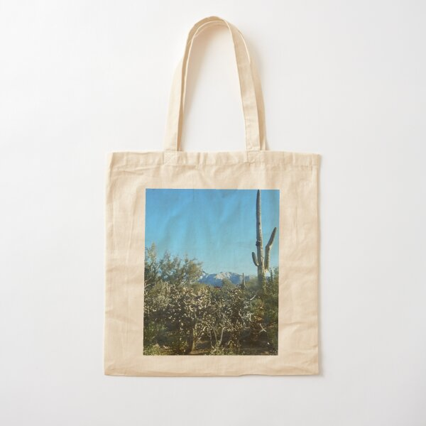 Arizona Cactus Garden in the Desert Cotton Tote Bag