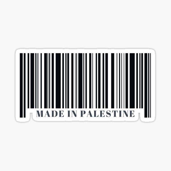 Made in Palestine Black Barcode Sticker