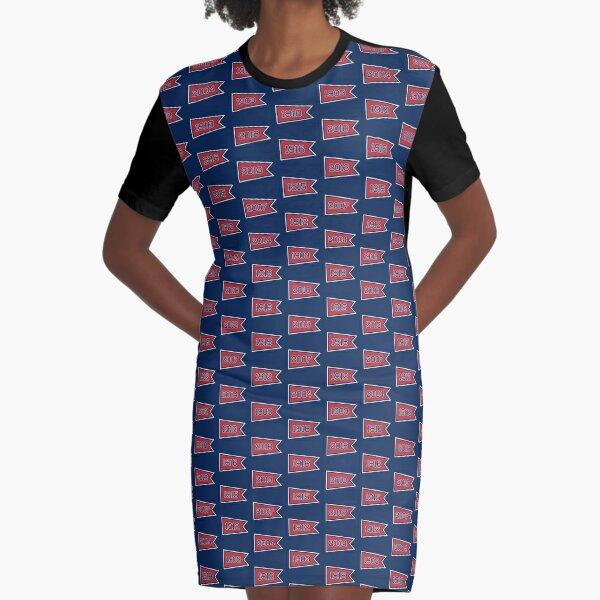 BOS Pennants Graphic T-Shirt Dress