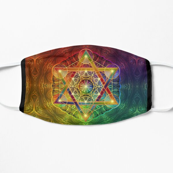 Metatron's Cube with Merkabah and Flower of Life Flat Mask